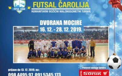 "Humanitarni božićni malonogometni turnir ""Futsal čarolija""  16.12. – 28.12."