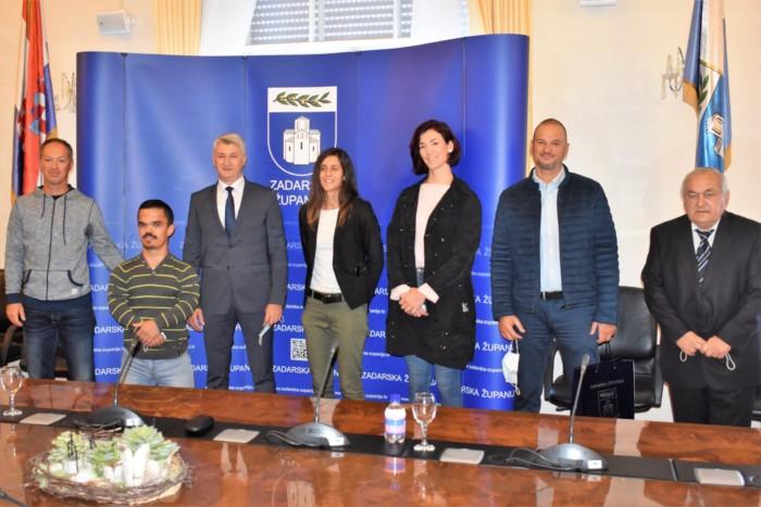 Župan Longin primio srebrne jediličarke i atletičara Gašpara